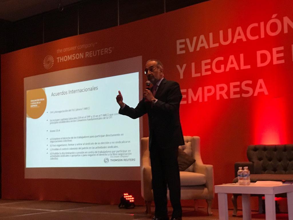 Conferencia sobre la Reforma Laboral impartida por el Lic. Oscar De La Vega para Thomson Reuters